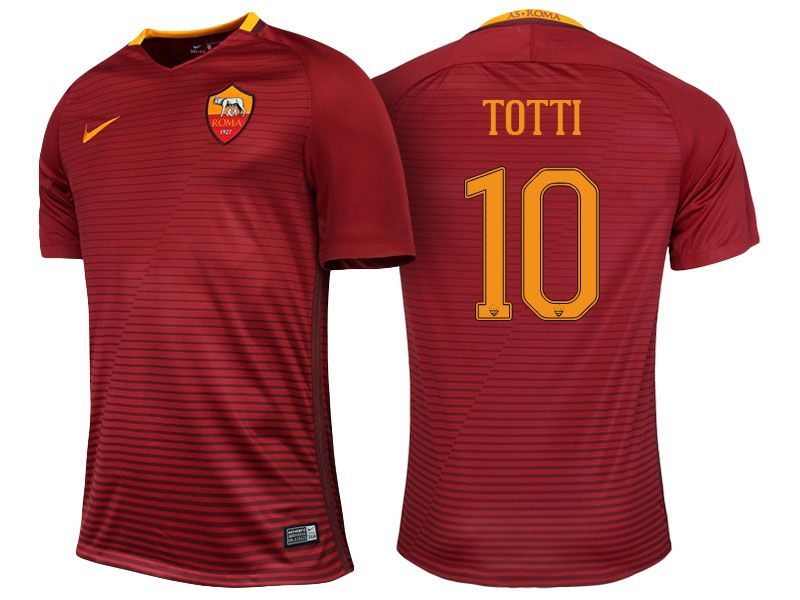 8fa5fe590 ... AS Roma 10 Francesco Totti 2016-17 Home Short Shirt Nike ROMA YTH SS ...