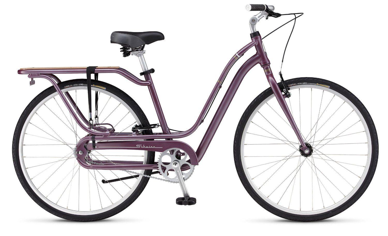 5a565ee0460 Amazon.com : Schwinn City 3 Bike Lilac 18.5in Womens : Sports & Outdoors
