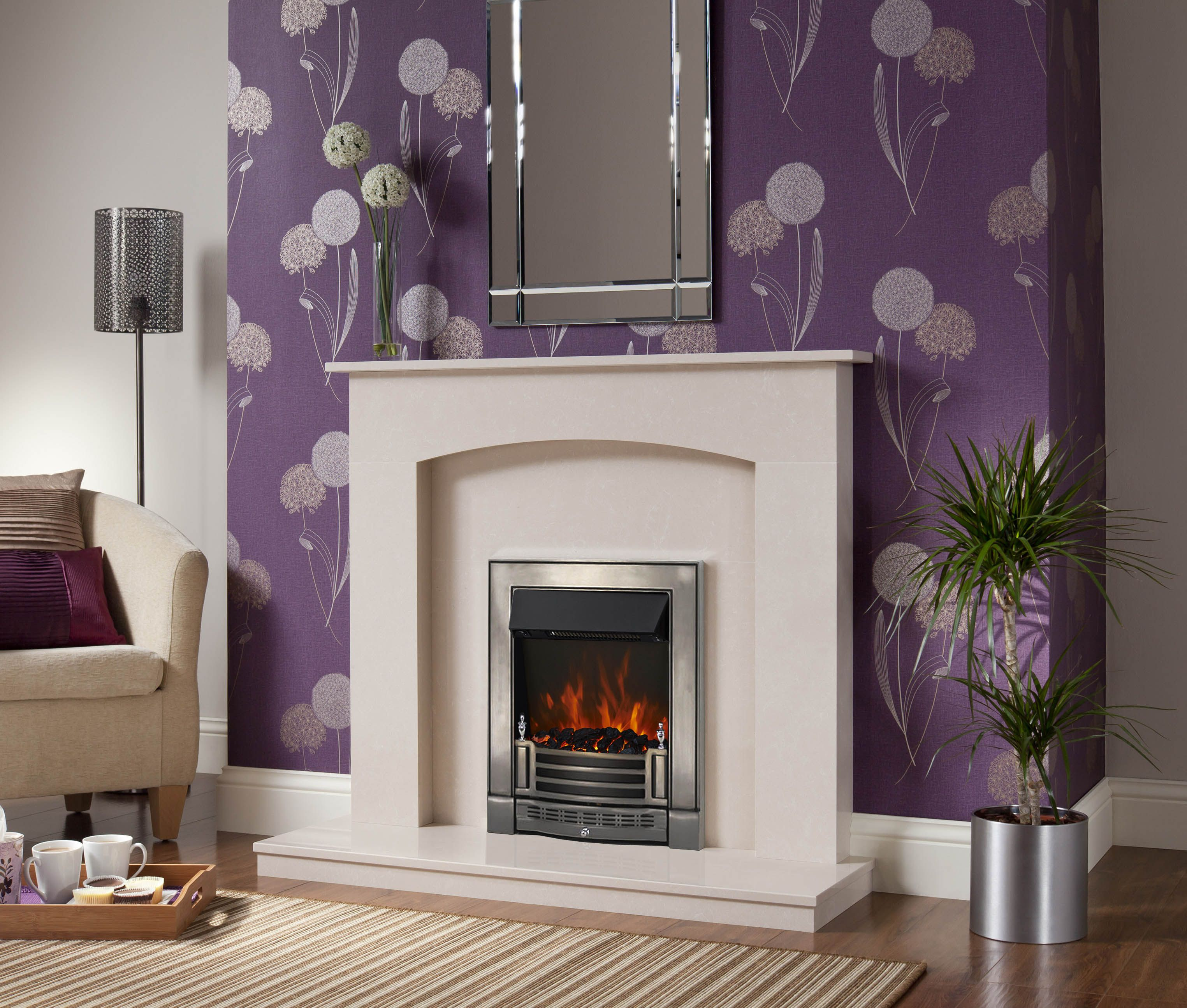 the led inset electric fire features led technology designed to