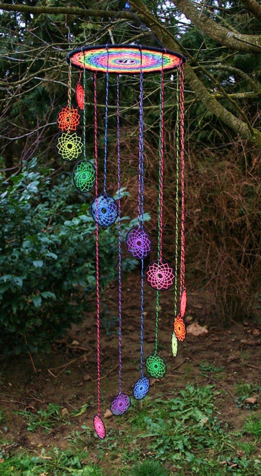 M bile apanhador de sonhos em croch ideias para a casa for Colgantes para arbol de navidad