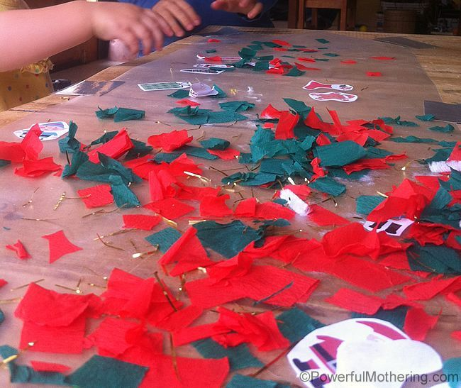 Christmas Theme Activity with Sticky Contact Paper Christmas