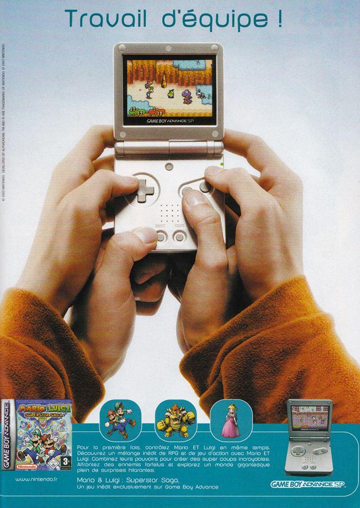 huge discount 384bd d089e Nintendo Game Boy Advance SP   Mario   Luigi Superstar Saga (french ad)   gaming  Nintendo  ads