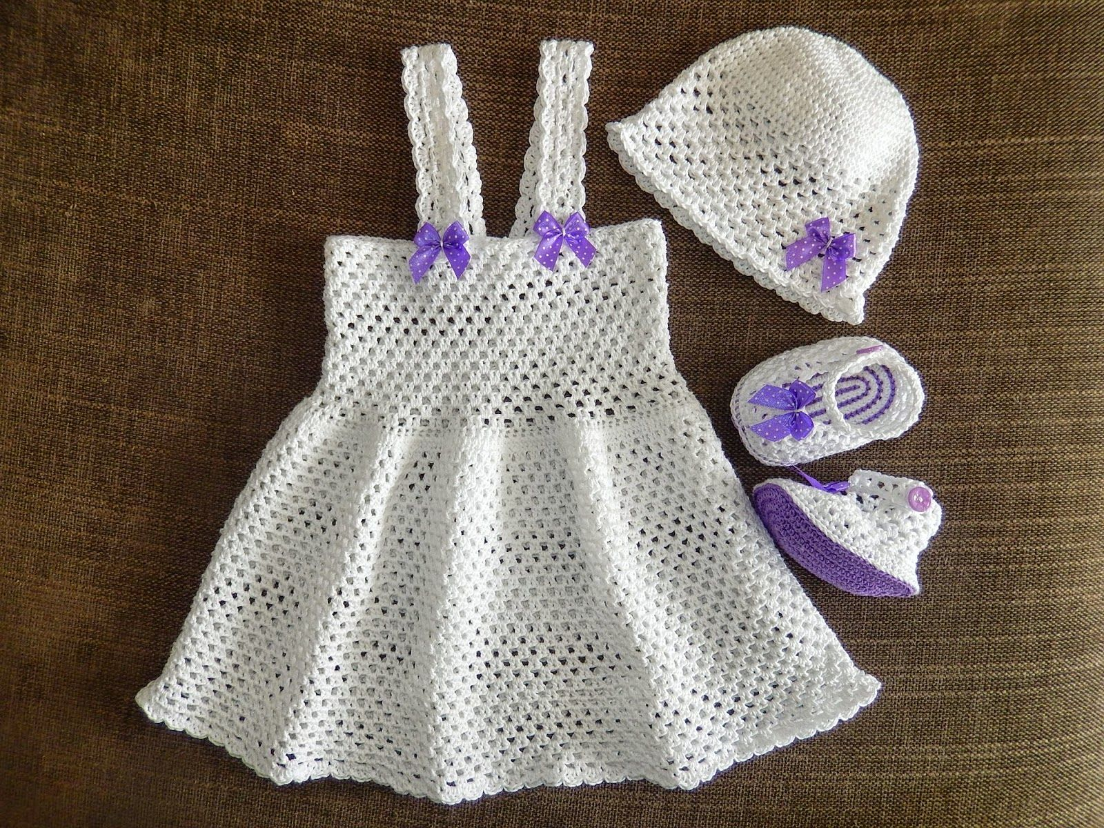 The Daily Knitter & Crocheter: Simple and easy crochet dress pattern ...