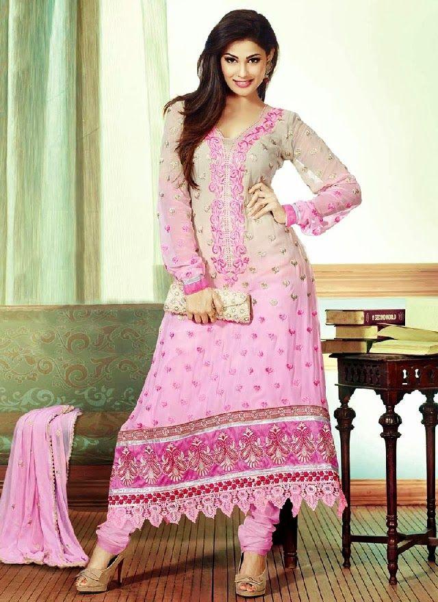 Pure Silk Churidar Salwar Kameez Designs for Girls ...