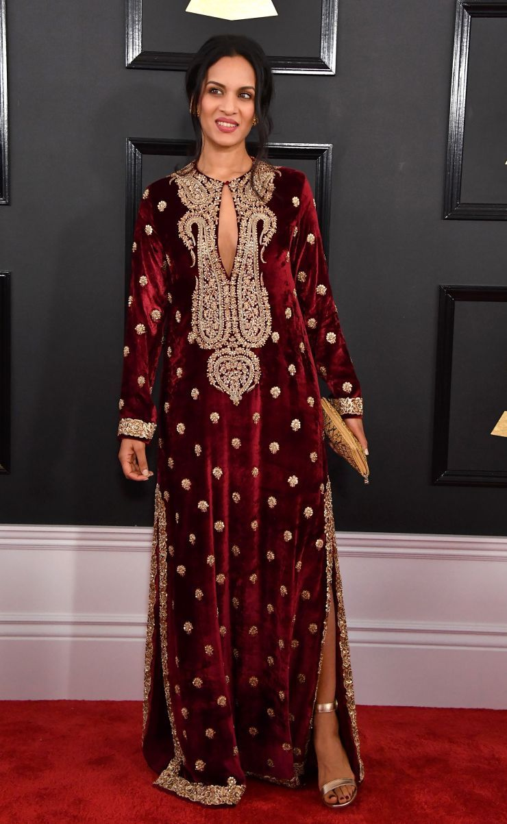 Anoushka Shankar Grammy Com Grammy Awards Red Carpet Fashion Bollywood Fashion