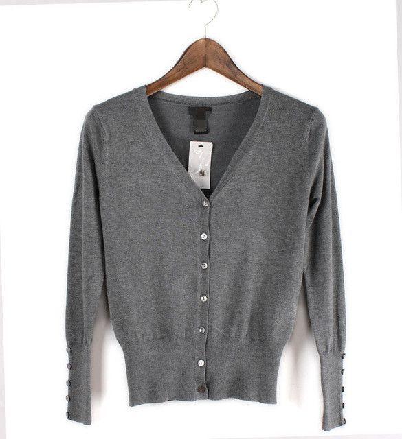 American Apparel Brand Quality Shell button KNIT TOP Womens Loose Knitting Cardigan Knitting Shirt Shawl Shrugs
