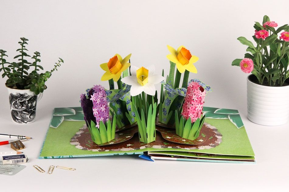 How This Flower Bouquet Pop-Up Book Was Designed
