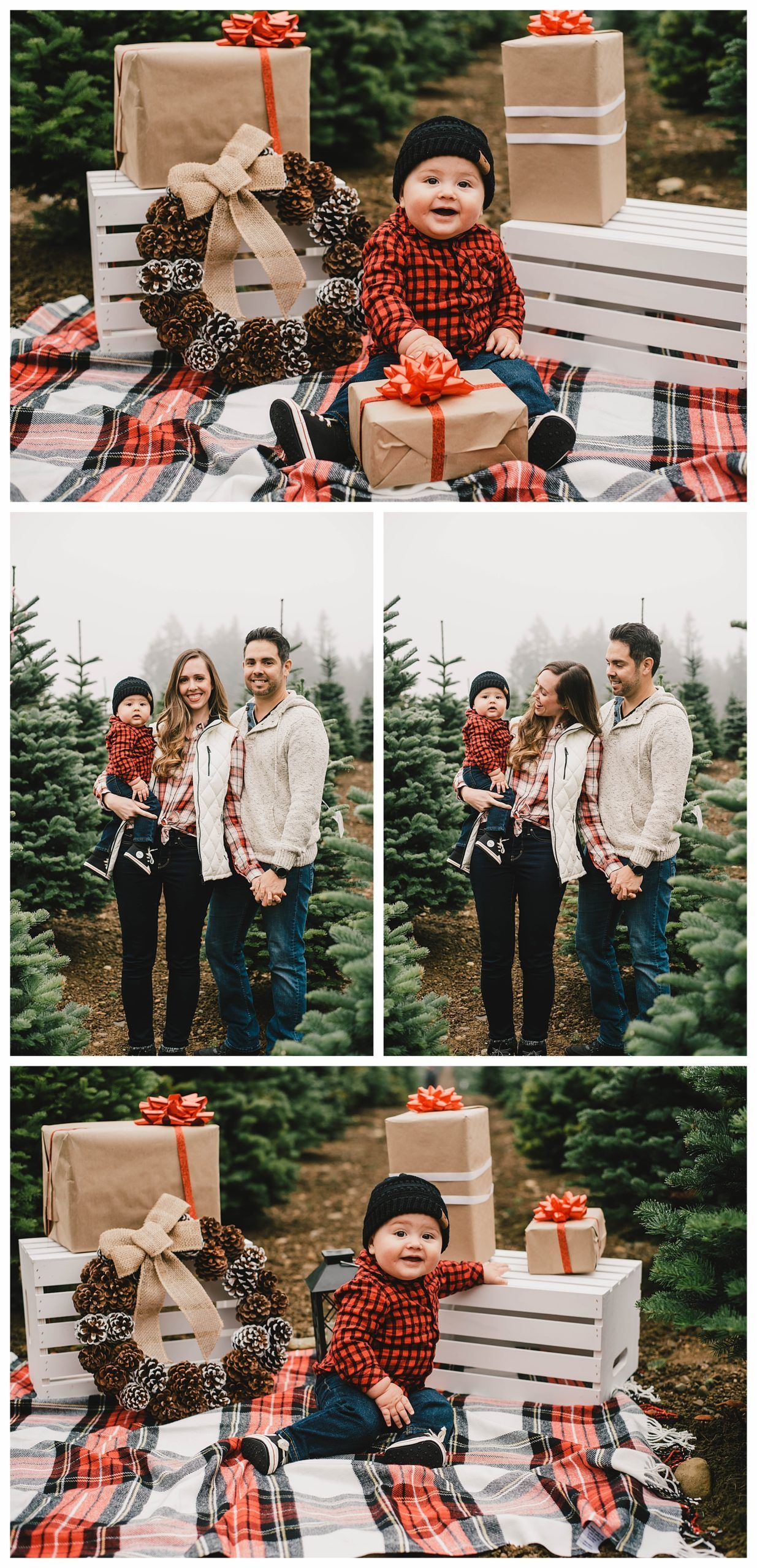Christmas 2020 Kitsap Kitsap County Couple Photographer | Hubert's Christmas Trees
