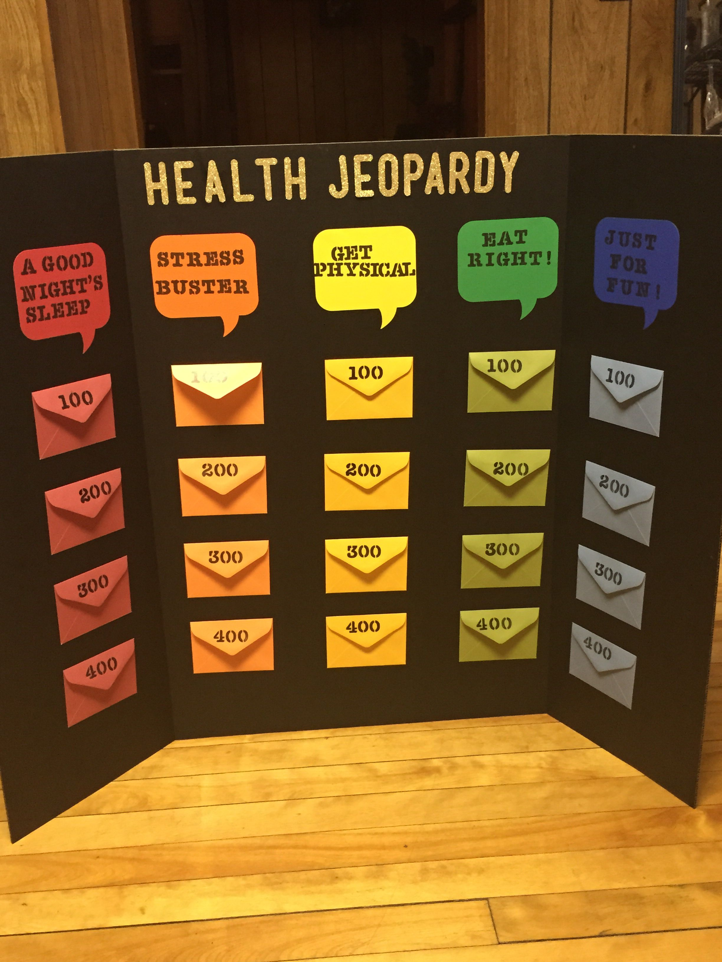 Health Jeopardy Board Game  Diy    Board Gaming And