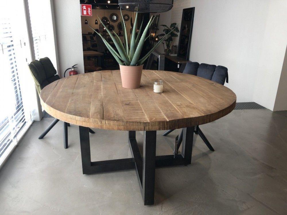 Wohnzimmer Runder Tisch Grau Naturholz Tisch Rund