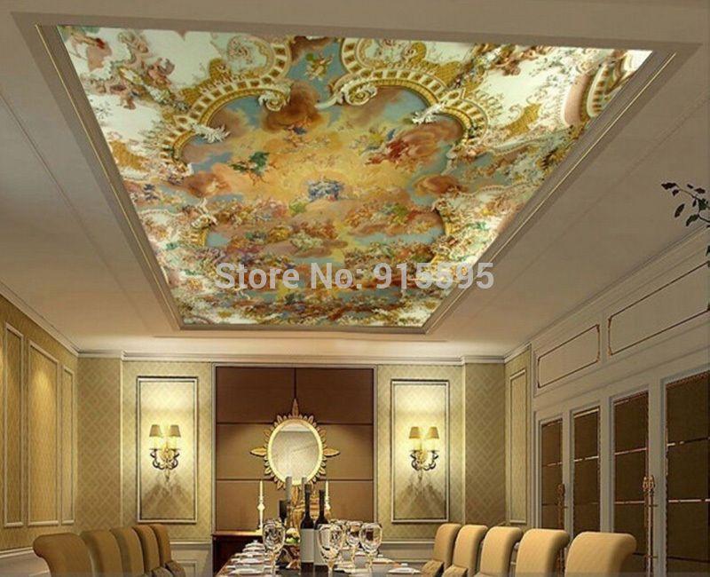 3d Wallpaper Mural Painting Art European Greek Angel Background