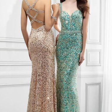 Sheath Sweetheart Sleeveless Sequin Prom Dress With Straps