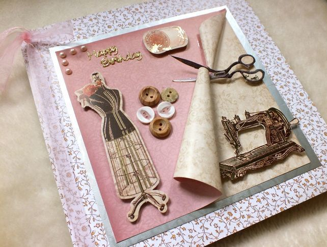 Sewing Cards Luxury Handmade Sewing Theme Birthday Card Sewing