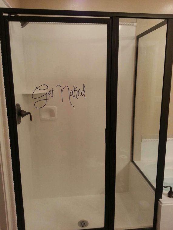 GET NAKED Vinyl Wall Art, Bathroom Wall Art, Bathroom