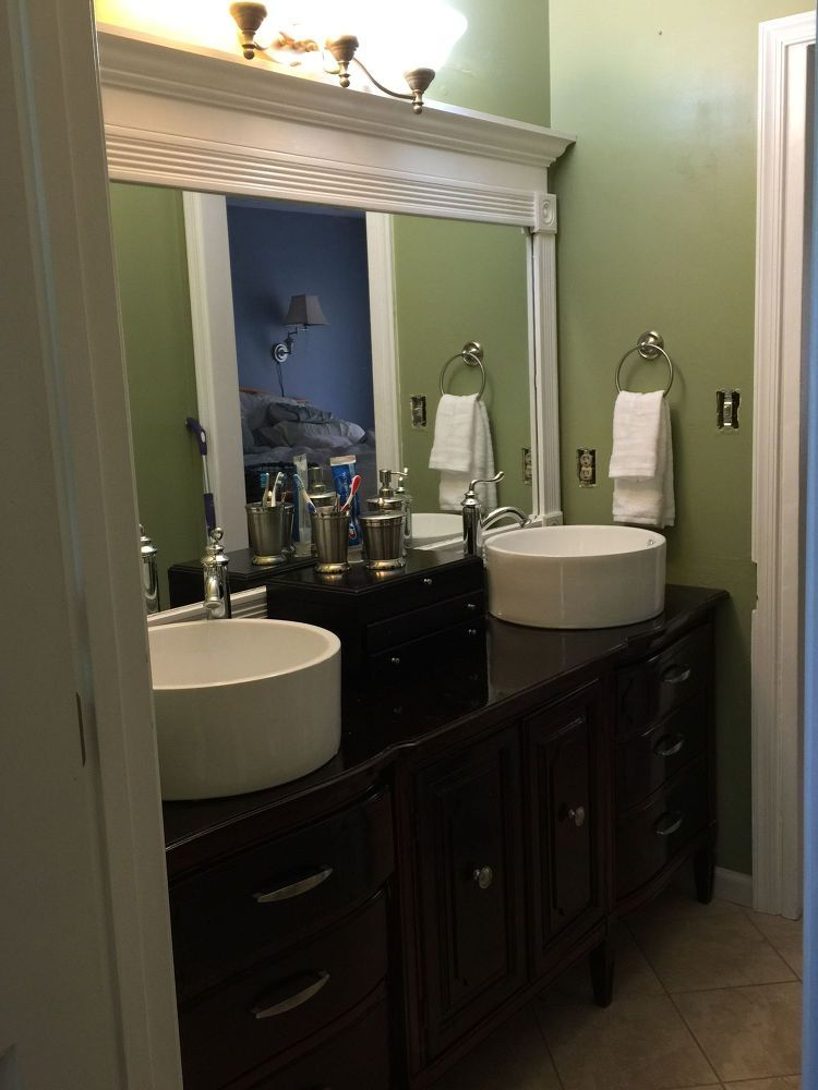 outdated bathroom gets a budget update  small bathroom