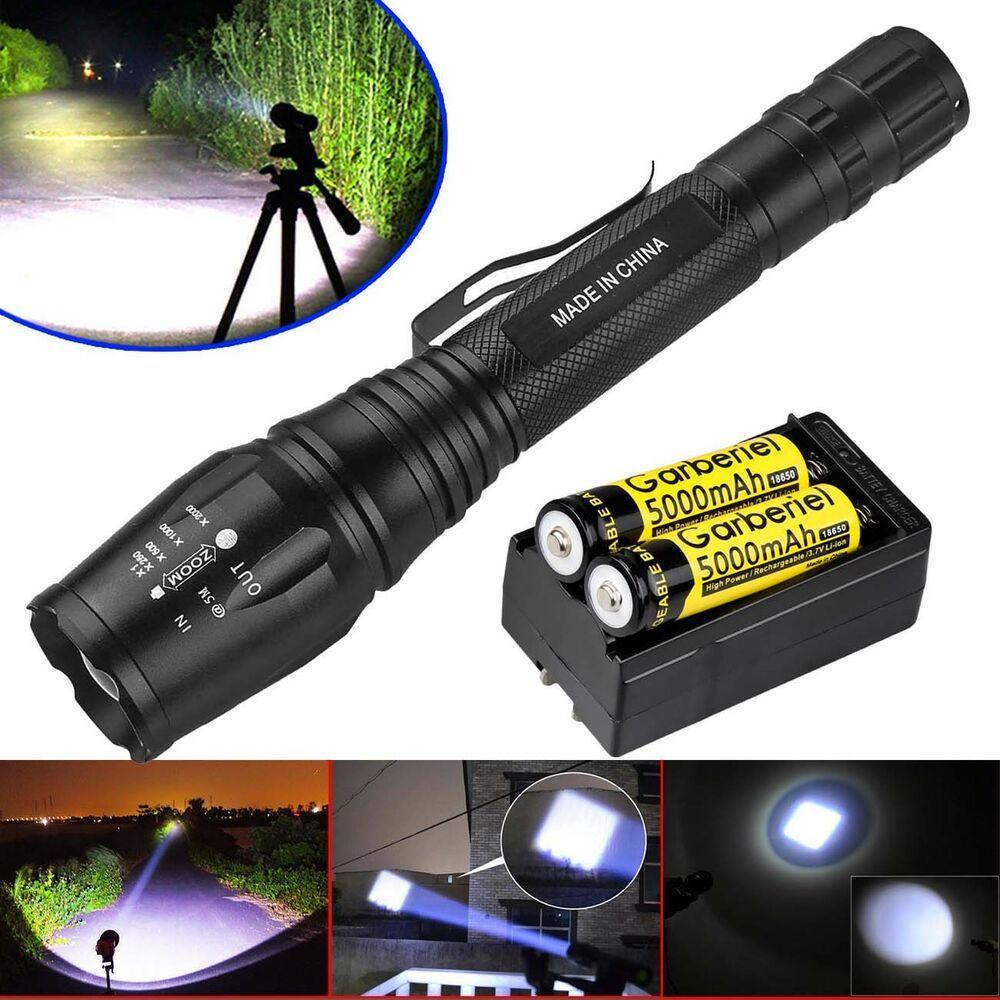 Ultrafire 80000Lm 5Mode T6 LED Focus Flashlight Torch 18650
