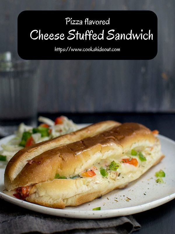 Kid Friendly Sandwich stuffed with pizza flavors  Cooks Hideout Cheesy pizza flavored sandwich is extremely easy to make and absolutely delicious Great to serve as an app...