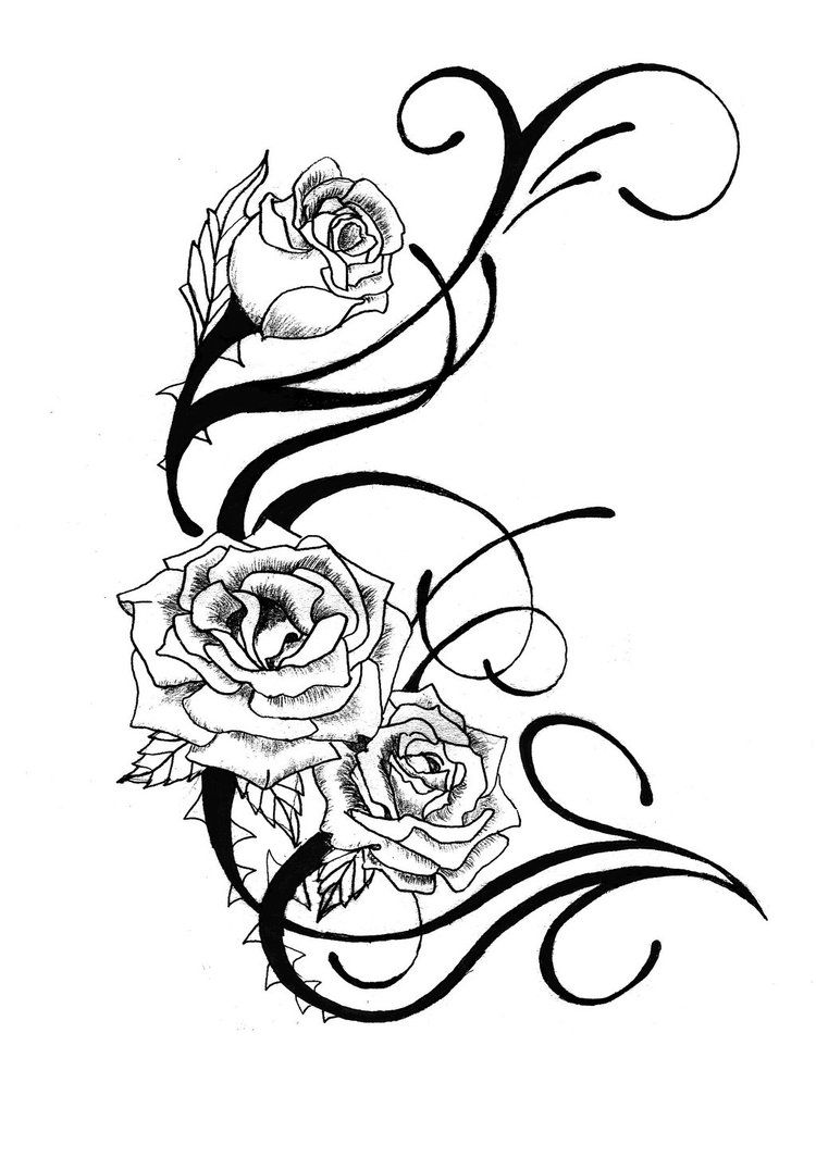 Rose Tattoo Design By Csdesigns83 On Deviantart Black And White Flower Tattoo White Flower Tattoos Rose Tattoo Design
