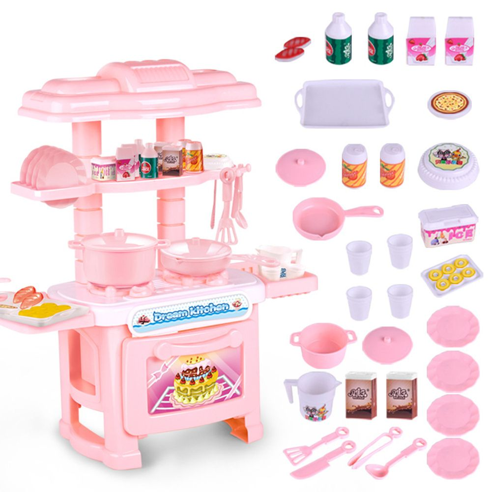 Baby Mini Kitchen Plastic Pretend Play Simulation Cookware Kids Girls Toys Kit Cooking Toys Kitchen Sets For Kids Toy Kitchen