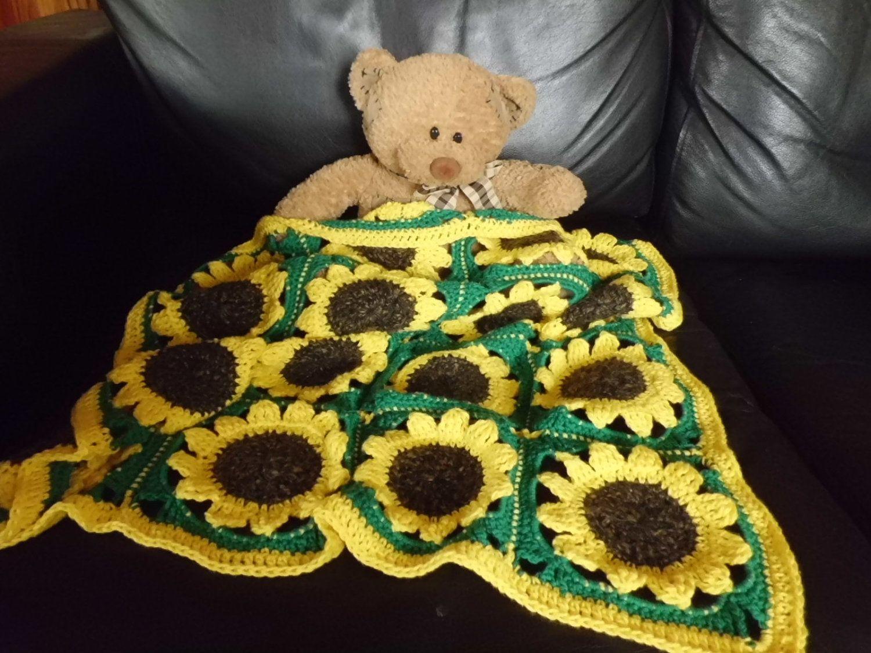 Sunflower Crochet Babys Blanket 2000 Via Etsy Dingen Die Ik