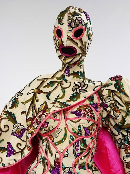 Female Ensemble For Because We Must Leigh Bowery Fashion Mask