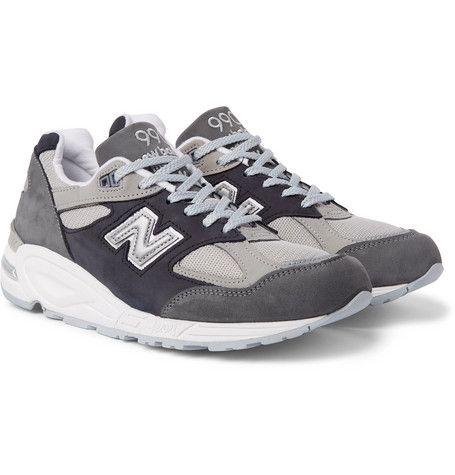 New Balance 990V2 Suede and Mesh Sneakers discount in China buy cheap wiki buy cheap hot sale r7BzodlW