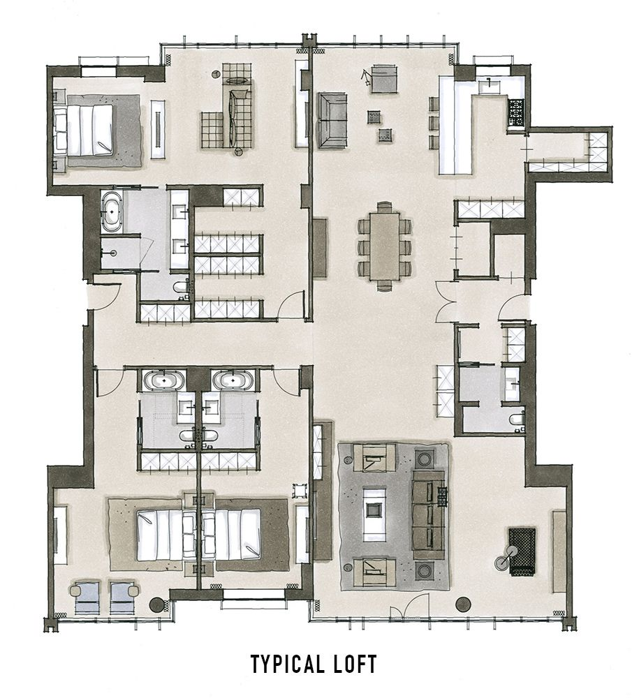 Oosten Williamsburg Loft Floor Plan Home Floorplans