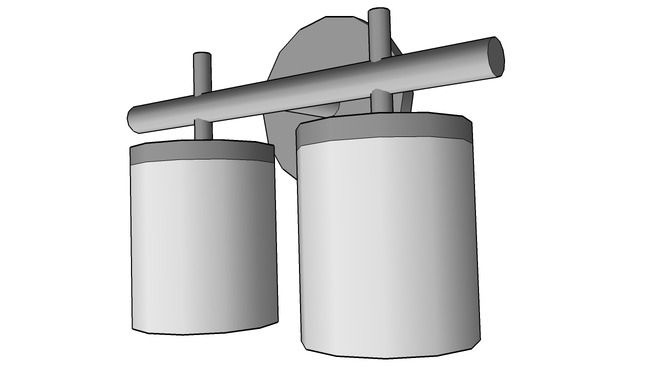 Cylindrical sconce double - 3D Warehouse