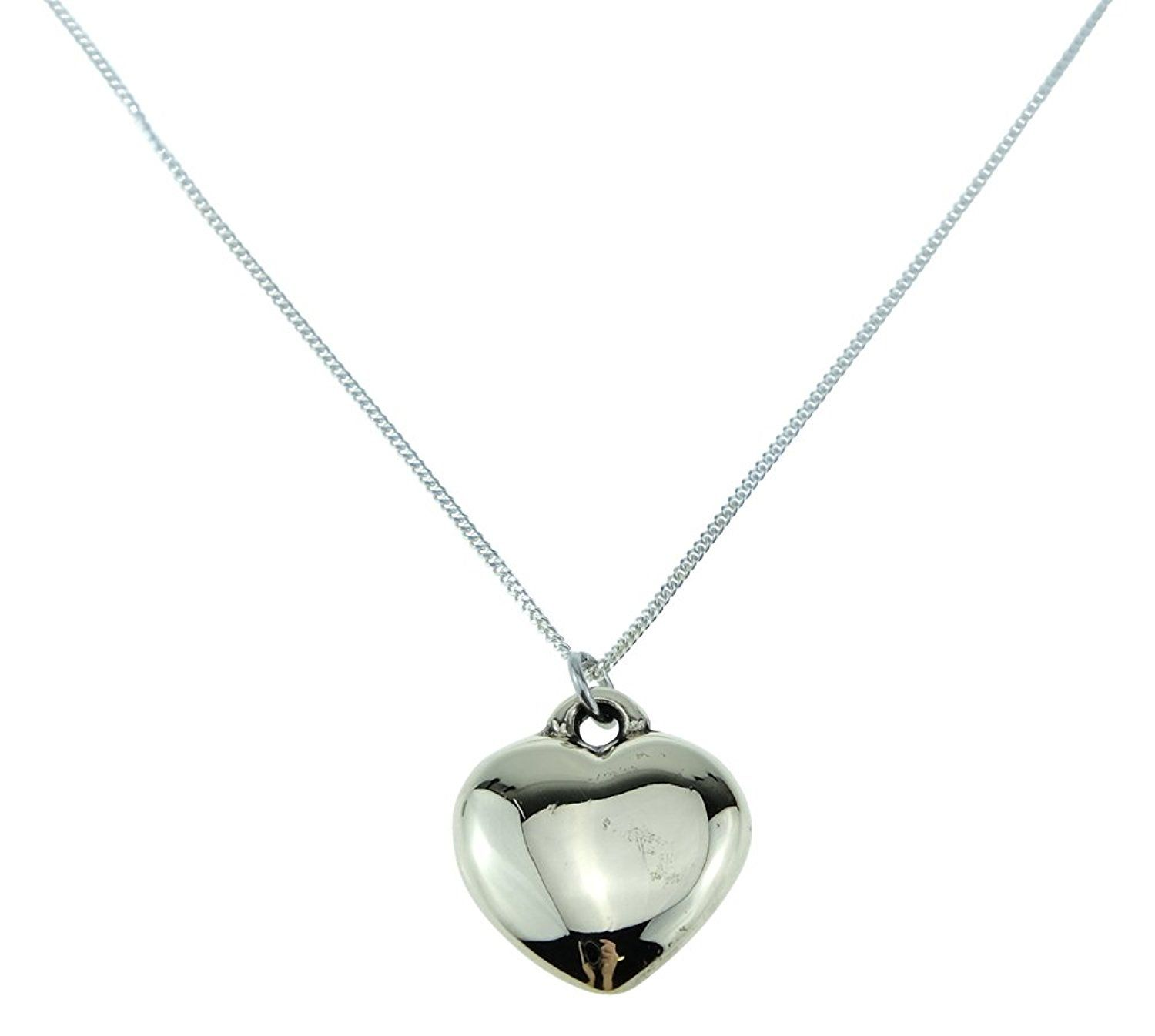 8th anniversary solid bronze polished heart pendant