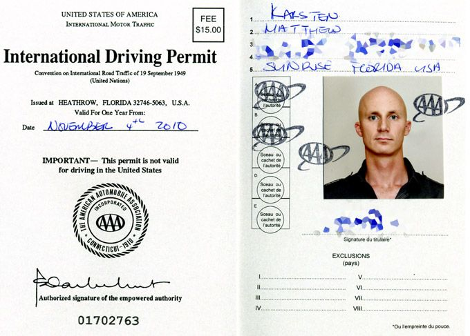 How To Get An International Drivers License Permit