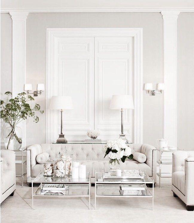 Glamorous Living Room neutral and glamorous living room | l i v i n g r o o m