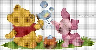 490b4a87d Risultati immagini per punto croce winnie the pooh | Charts | Winnie ...
