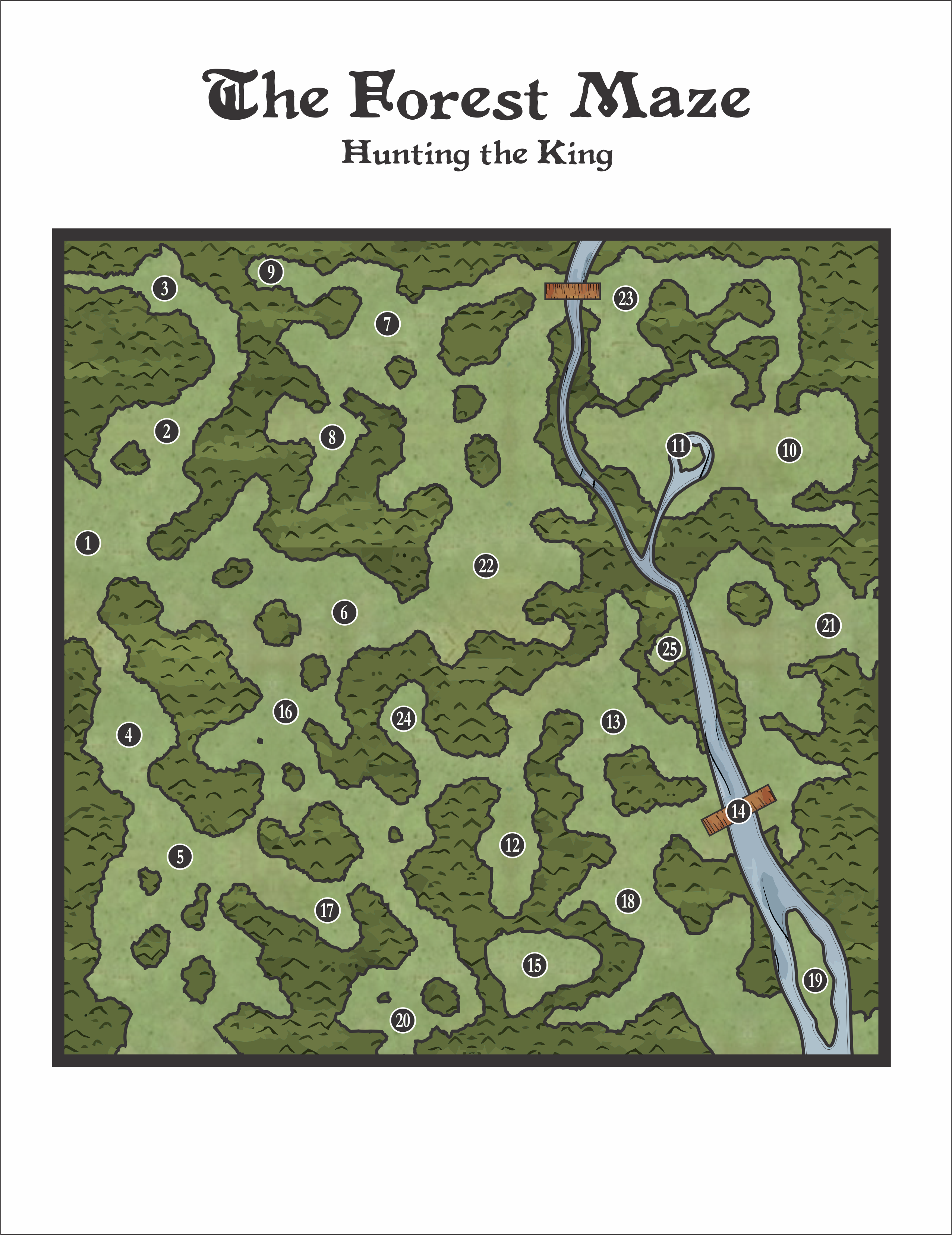 The Forest Game Map on