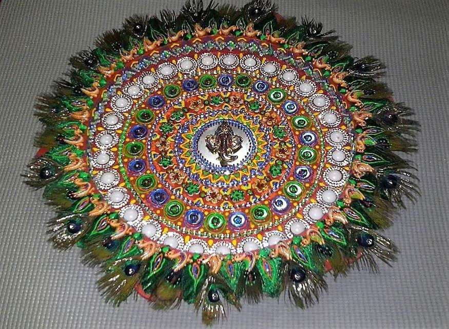 Aarti thali decoration ideas for janmashtami decoration and garlands aarti thali decoration ideas for janmashtami junglespirit Image collections