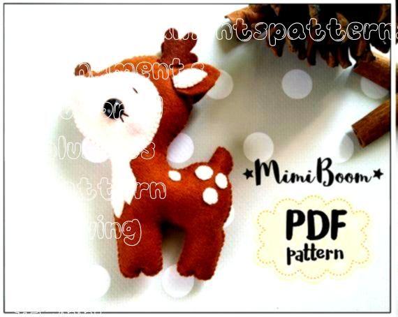 deer pattern Felt sewing deer PDF tutorial DIY deer plushies tutorial Deer pdf sewing pa Felt deer pattern Felt sewing deer PDF tutorial DIY deer plushies tutorial Deer p...