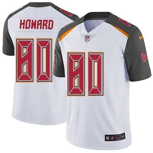 Hot nike buccaneers 80 o.j. howard white mens stitched nfl new elite jersey