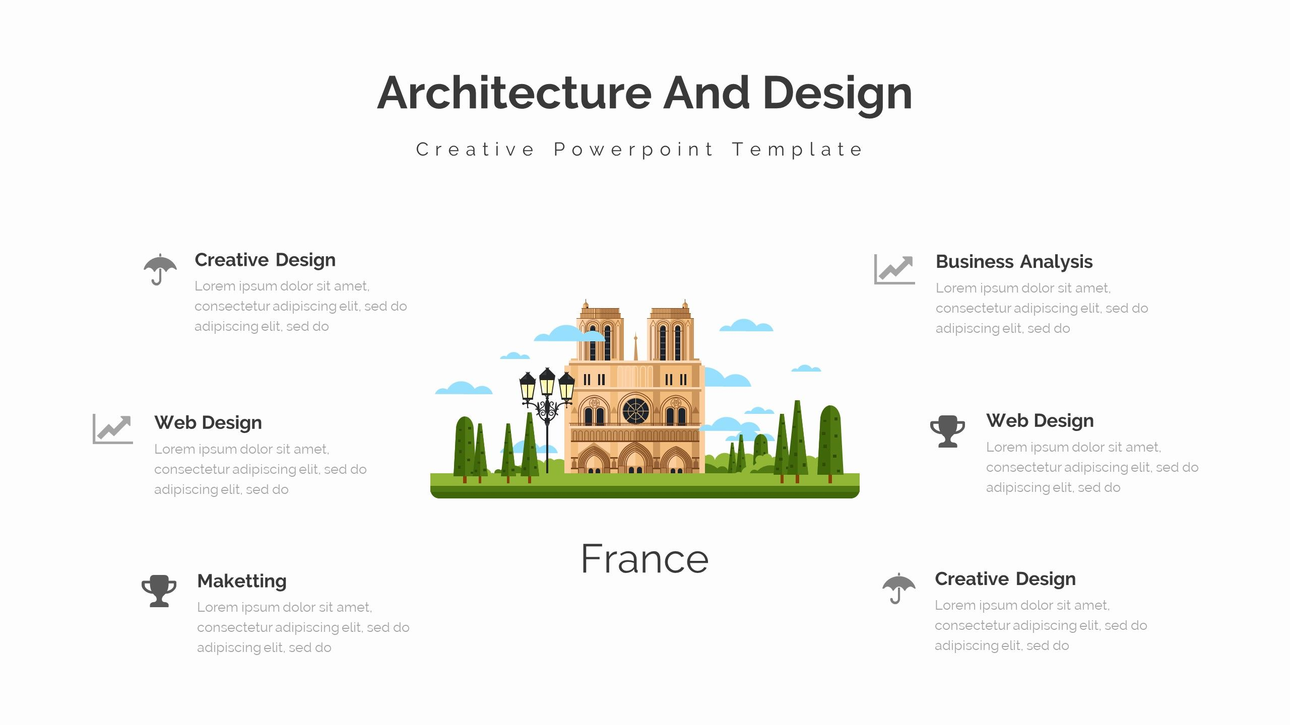 Interico Stylish Interior Design And Architecture Powerpoint Template Keynote Template Unique Business Cards Design Logo Design Inspiration Graphics