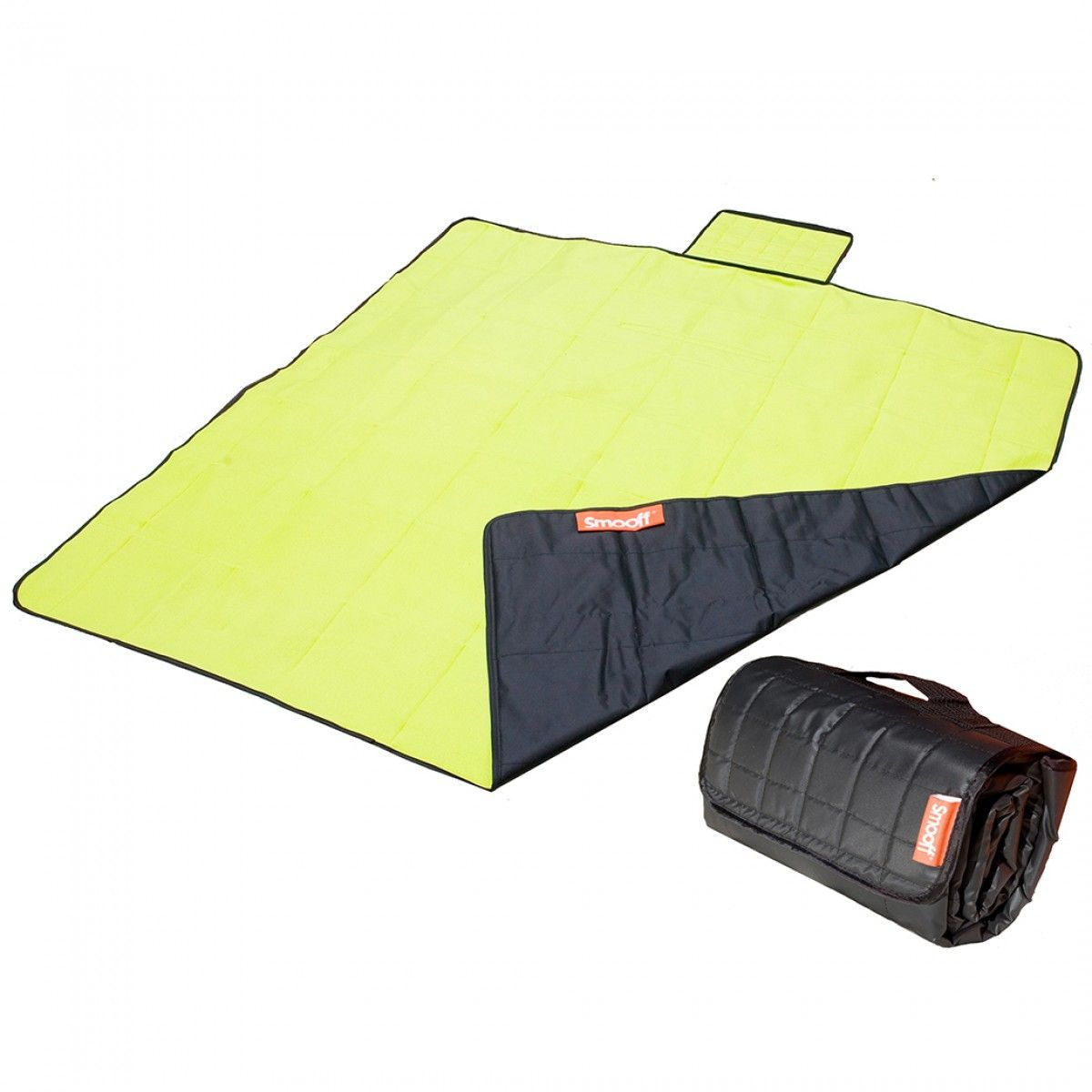 Smooff Black/Lime Picnic Blanket / Picknickkleed / Picknickdecke