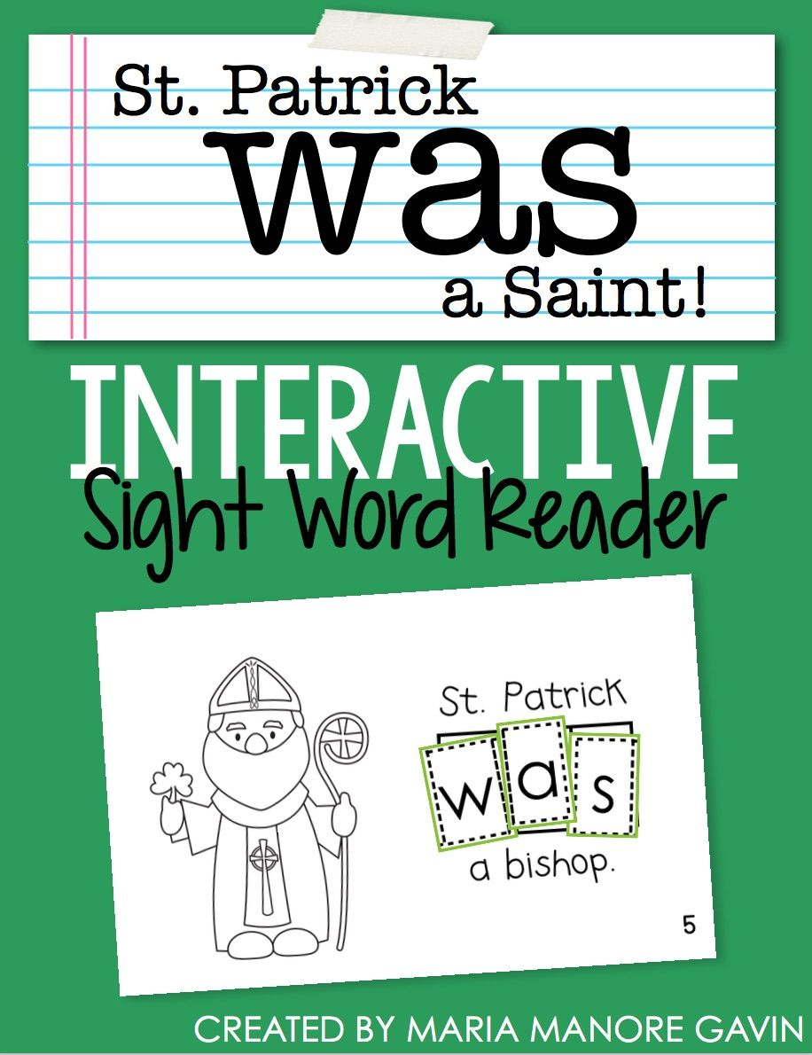FREE St. Patrick\'s Day Emergent Reader | Emergent readers, Sight ...