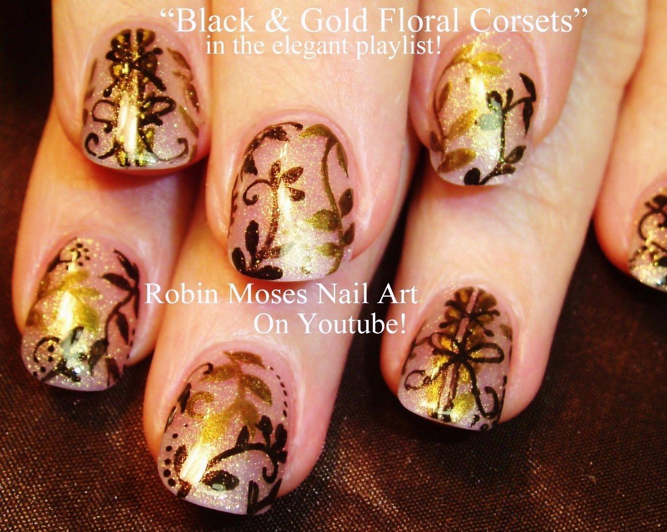 Nail Art Design for Short Nails | DIY Sheer Gold Corset Tutorial ...