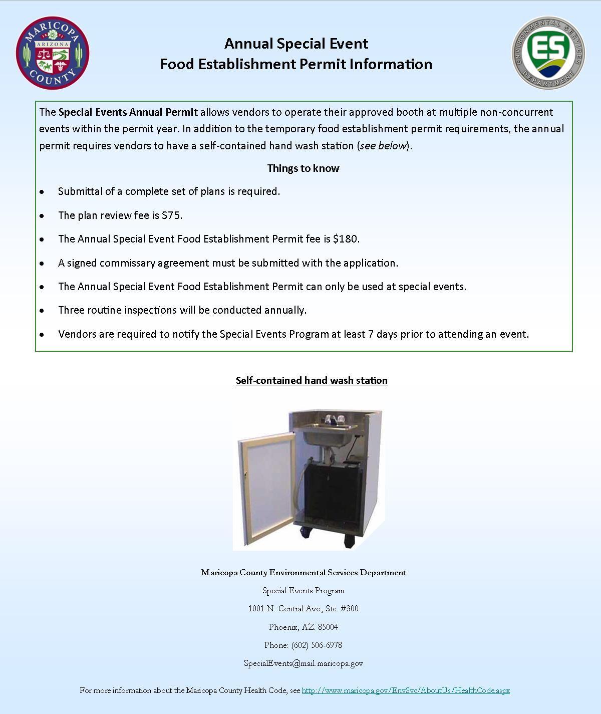 maricopa health department permit
