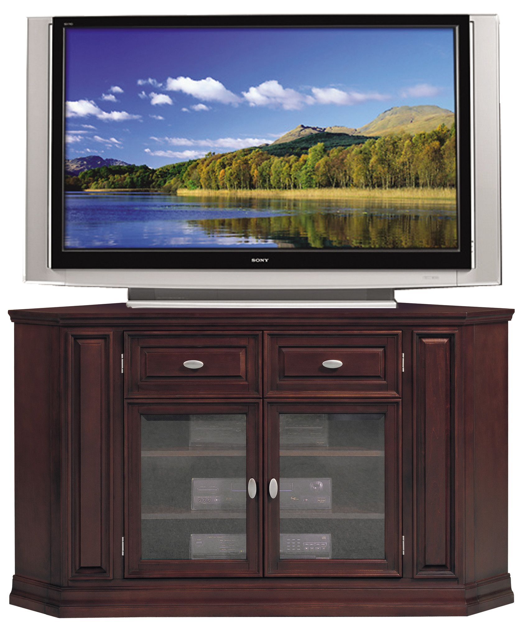 Lorraine Tv Stand For Tvs Up To 60 Tv Stand With Storage Corner Tv Console Tall Corner Tv Stand