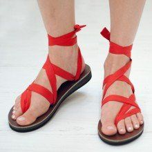 Beautiful sandal with ribbons - Sseke sandals as seen on Shark Tank. http://getsharktankproducts.com/shark-tank-product-store/