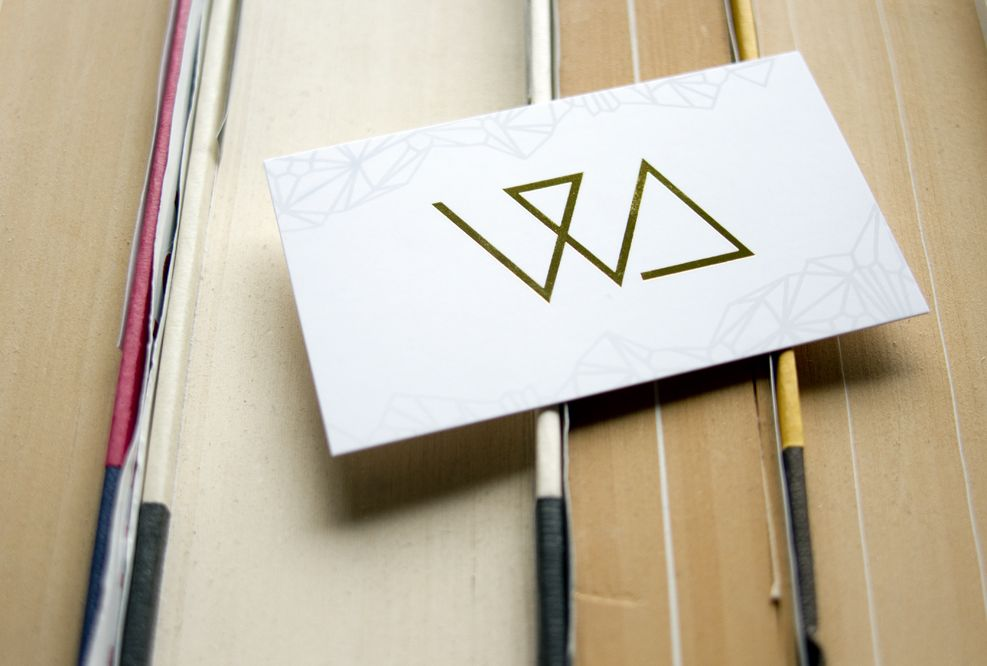 White Lies Jewelry business card. Printed using premium offset on ...