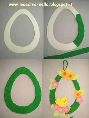 Disegni idee e lavoretti per la scuola dell 39 infanzia e - Decorazioni uova pasquali per bambini ...