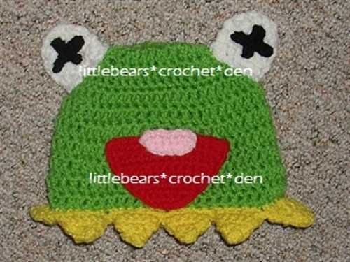MUPPETS CUSTOM CROCHETED Boutique KERMIT THE FROG Beanie Hat - ShopHandmade