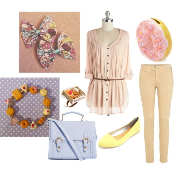 Cakes, Donuts, Candy. An outfit inspired by the sweetest things.