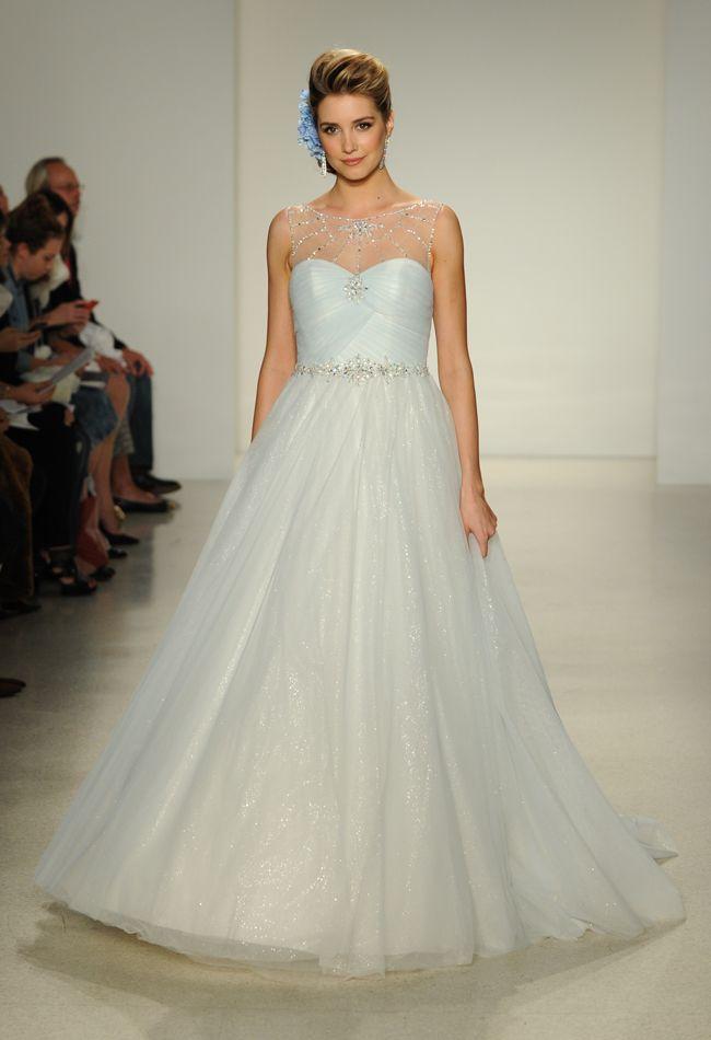blue cinderella a line wedding dress disney fairy tale weddings by alfred angelo fall