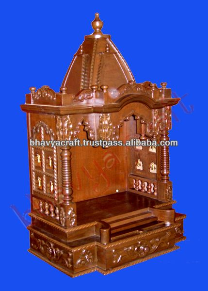 Wooden Temple ,altar,mandir,hindu God Statue,indian Temple