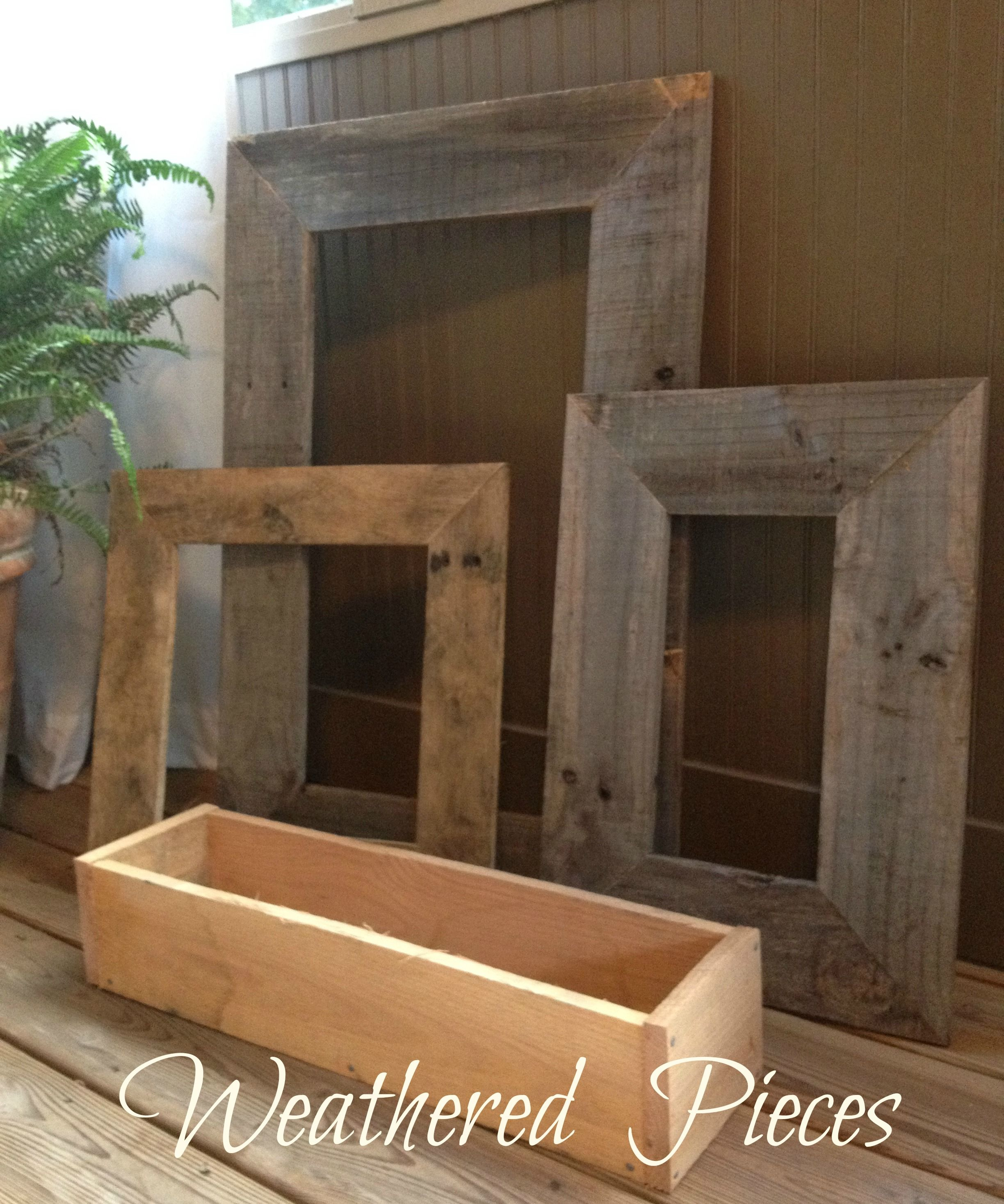 Frames made from pallet wood by Weathered Pieces www.weatheredpieces ...